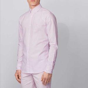 Boss black sharp fit button up dress shirt 34/35